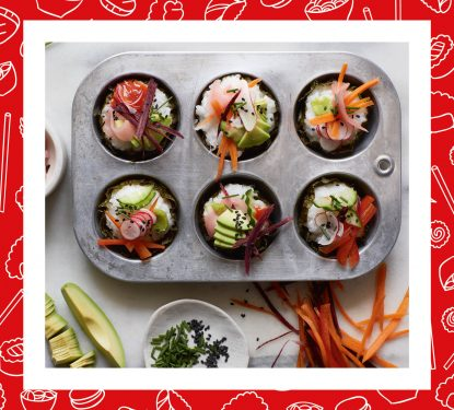 Recipe: Superior Sushi Cupcakes from BISH, BASH, BOSH!