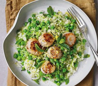 Recipe: Alexandra Dudley's zesty lemon, pea and scallop risotto