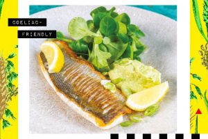 Recipe: Pan seared sea bass with avocado and citrus dressing